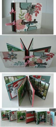 Mini album accordéon - tutoriel
