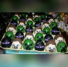 Minecraft 2015 #cascarones by Chrystal Amaya #EasterEggs