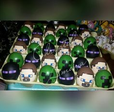 More minecraft | Hand painted Easter eggs | Pinterest | Minecraft