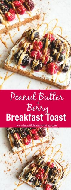 This Peanut Butter & Berry Breakfast Toast is the BEST and HEALTHIEST way to start your day! breakfast toast | breakfast ideas | easy breakfast recipes | toddler approved recipes | kid approved recipes | toddler meals | quick breakfast recipes | healthy breakfast recipes | toast Tuesday ideas | weight loss motivation