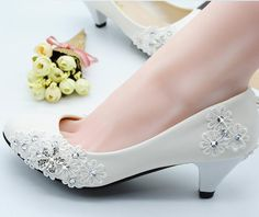 Ivory/Red Low-heeled Lace Wedding Boots Lace Wedding Shoes Sexy Low Heel Lace Bridals Shoes