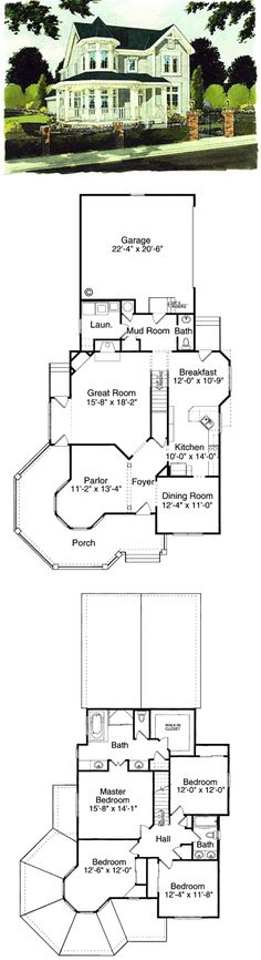 Nice layout and exterior----- Plans for a 4 bedroom Victorian Farmhouse