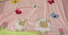 Kuzu resimli polar bebek battaniyeleri