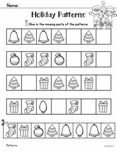 This pack is filled with quick and easy to prepare activities, perfect for those hectic days leading up to Christmas. These black and white printables are quick and easy! Pre K Worksheets, Christmas Worksheets, Kindergarten Math Worksheets, Christmas Math, Math Literacy, Preschool Education, Christmas Activities, Fun Math, Art Activities For Kids