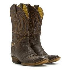 cowboy boots and blue jeans!