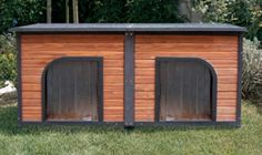 Precision Pet: (dog house) Outback Duplex   Divider Included Allowing for Two   Separate Enclosures or Remove   for Larger Breeds