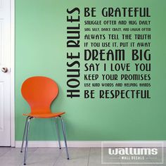 House Rules  Vinyl Wall Art Decal Sticker by WallumsWallDecals, $49.99