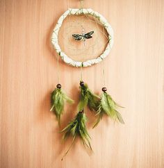 Dream Catcher  Dragonfly  With a Green Dragonfly by perpetumobile