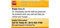 Dr. Cherkassky and his staff are great and his products work very well and help you...