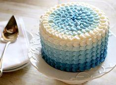 torta degrade azul