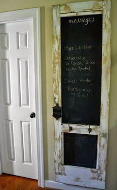 Almost Demolished, Repurposed Barn Door Decor ~ Popular Living Room Design Old Door Projects, Diy Projects, House Projects, Foyer Storage, Barn Door Decor, Diy Garden Furniture, Kitchen Furniture, Furniture Stores, Cheap Furniture