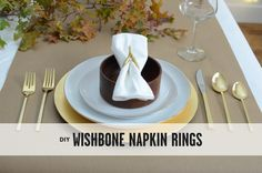 DIY Wishbone Napkin Rings