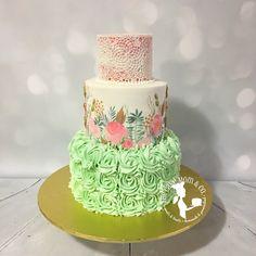 Two for tea birthday party cake. #cake #birthday #party #teaparty #thecakemomco