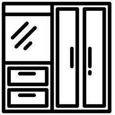 Wardrobe free vector icons designed by xnimrodx Disney Drawings Sketches, Kawaii Drawings, Drawing Sketches, Cute Easy Drawings, Art Drawings For Kids, Vector Icons, Vector Free, Free Icon, Edit Icon