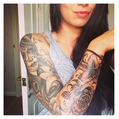 Day of the Dead Tattoos ❤ liked on Polyvore featuring accessories, body art and tattoos
