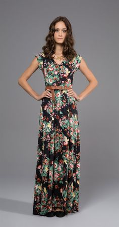 Vestido Longo Bichos | Lookbook | Antix Store