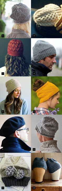 holiday hat patterns for every personality type. Pay and free patterns