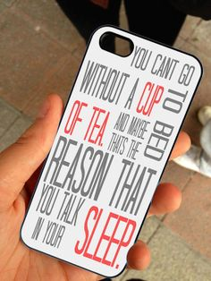 Favorite One Direction Quotes - Hard Case Print - iPhone 4 / 4s or iPhone 5 Case - Black or White Case