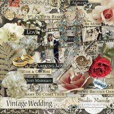New @ Studio Manu: Vintage Wedding - DigiShopTalk Digital Scrapbooking
