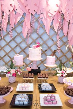 Cakescape from a Flamingos and Pineapples Tropical Birthday Party on Kara's Party Ideas | KarasPartyIdeas.com (20)