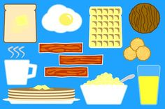 10 Breakfast food Illustrations - Illustrations