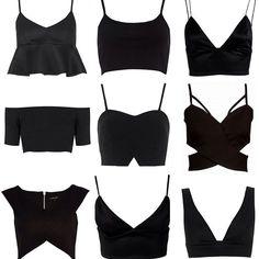 Crop Tops & Bralets (Victoria Törnegren) - Cropped - Ideas of Cropped - Crop Tops & Bralets Look Fashion, Diy Fashion, Ideias Fashion, Fashion Outfits, Womens Fashion, Fashion Design, Fashion Trends, Origami Fashion, Fashion Black