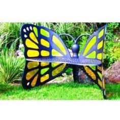 Butterfly Bench   Stained Glass