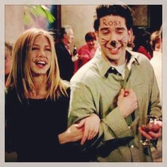 FRIENDS HALLOWEEN COSTUME I COULD BE MRS ROSS AND HE COULD BE MISTER RACHEL!!!