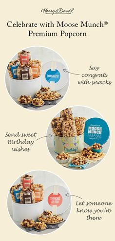 Send sweet wishes with Moose Munch® for any occasion!