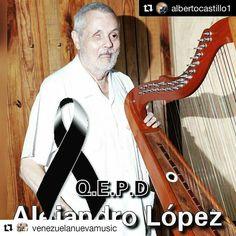 """#Repost @venezuelanuevamusic (@get_repost)  Nuestra música llanera está de luto. Se marchó un maestro que dejó un legado dentro del sonido de nuestra música... Gracias por tanto Maestro y Amigo!!! Vuela alto!! Paz... #Repost @albertocastillo1 (@get_repost)  Cumplo con el penoso deber de informar a todo el gremio folclórico de VENEZUELA Y COLOMBIA y la colectividad el fallecimiento de quien en vida fuera uno de los Mejores Técnicos de Sonido de grabación """"Don ALEJANDRO LOPEZ"""" más de 50 años…"""