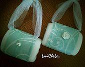 Set of 4 Handmade Bar Soap Purse Pocketbook Wedding Gift Set Party Favor Soap Bridal Shower Soap