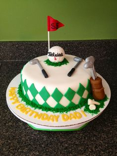 Golf Birthday cake! Cakes by Bri