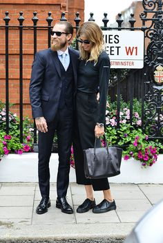 oh hello one of the world's chicest couples. #VeronikaHeilbrunner & #JustinOShea in London.