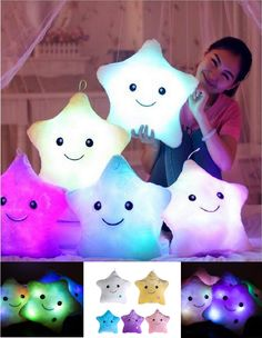 *Star LED Light Emoji Pillows* 🌟 5 Styles