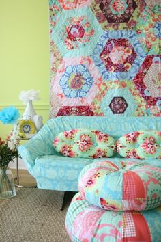 What's not to love about Amy Butler's LOVE collection... mixing & matching her prints is beyond adorable