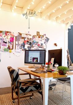 Fun office via Peonies + Brass! #laylagrayce #office