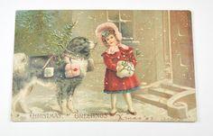 Landseer Newfoundland Dog & Little Girl by JewelryComponents, $15.99