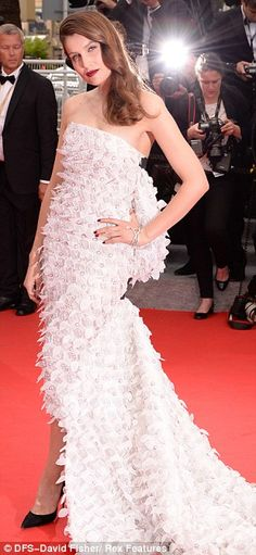 2014 Cannes Film Festival Red Carpet -Laetitia Casta in Christian Dior Spring 2014 Haute Couture