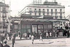 Entrada de metro en la Puerta del Sol, 1921 - Portal Fuenterrebollo