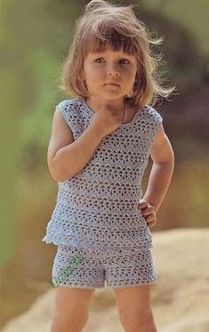 Топ и шорты на девочку 1.5-2 года (Вязание крючком) — Журнал Вдохновение Рукодельницы