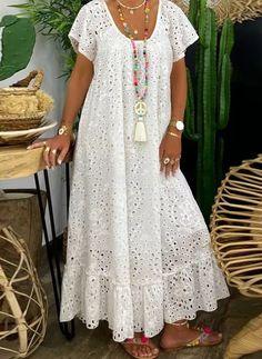 Abaya Fashion, Women's Fashion Dresses, Boho Fashion, Dress Outfits, Simple Dresses, Casual Dresses, Summer Dresses, Lace Gown Styles, African Maxi Dresses