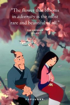 44 Emotional and Beautiful Disney Quotes That Are Guaranteed to Make You Cry Mulan Quotes, Life Quotes Disney, Cute Disney Quotes, Disney Princess Quotes, Cute Quotes, Quotes From Disney Movies, Cute Cartoon Quotes, Best Movie Quotes, Walt Disney