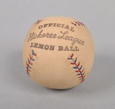 """""""HICKOREE LEAGUE"""" HAND-MADE LEATHER BASEBALL, HICKOREE'S EXCLUSIVE"""