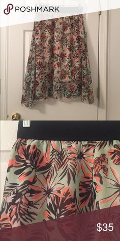 Lola Skirt How much fun would this be in the beach?! Mint background with pops of coral, black, and white. LuLaRoe Skirts