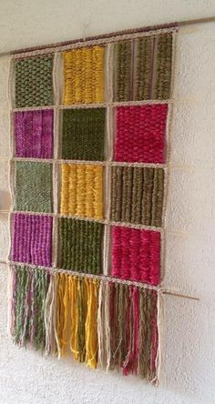 Weaving Textiles, Weaving Art, Tapestry Weaving, Loom Weaving, Hanging Tapestry, Tapestry Wall, Macrame Wall Hanging Patterns, Weaving Wall Hanging, Weaving Projects