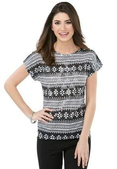 bc61522f923fa Cato Fashions Aztec Studded High – Low Tee - Plus  CatoFashions High Low