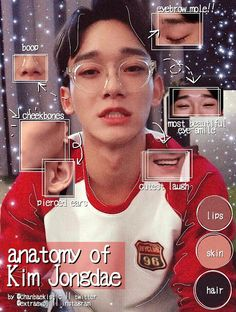 "ems ♡ on Twitter: ""anatomy edit of Kim Jongdae / Chen ♡… """