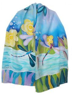 Silk paintings by Ganka Slavova
