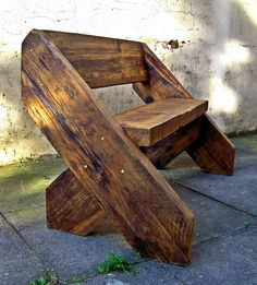 The Big Foot Bench by Green Thumb Print. in wood furniture  with Wood upcycled furniture Recycled reclaimed Bench