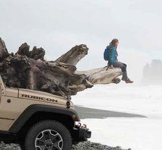 Living on the edge in a #Jeep